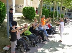 Sesión de Fisioterapia,al aire libre.Despedida de curso 2015-2016