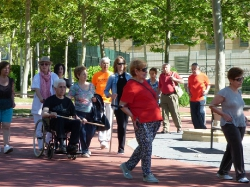 Sesión de Fisioterapia,al aire libre.Despedida de curso 2015-2016_7